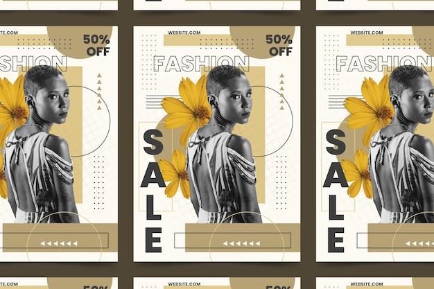 Cartel de moda con oferta especial.