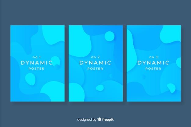 Cartel moderno con formas dinámicas