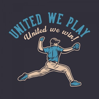 Cartel de motivación de jugador de cita de béisbol