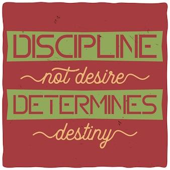 Cartel motivacional con cita inspiradora.