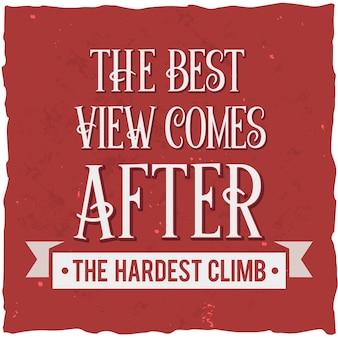 Cartel motivacional. diseño de cita inspiradora.