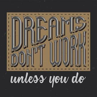 Cartel motivacional. diseño inspiracional.