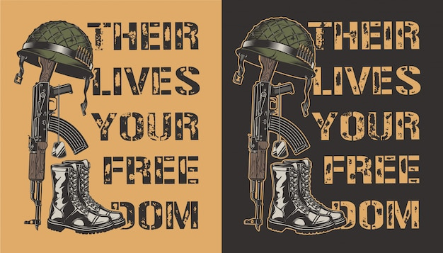 Cartel motivacional del ejército