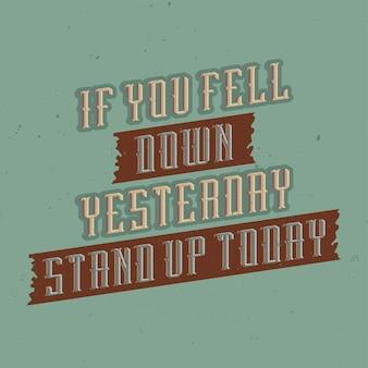 Cartel motivacional de letras vintage.