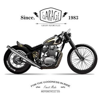 Cartel de la motocicleta de chopper del vintage