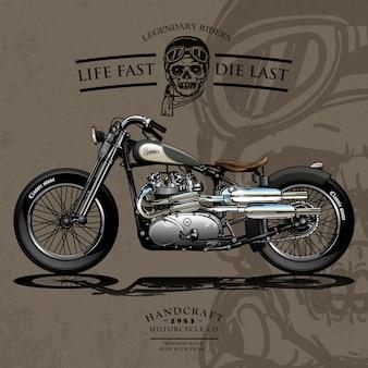 Cartel de la motocicleta freedom chopper