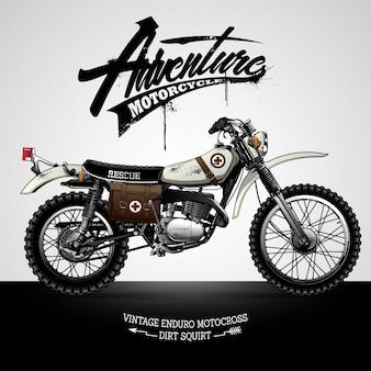 Cartel de la motocicleta del scrambler del vintage