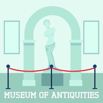 Cartel del museo de antigüedades