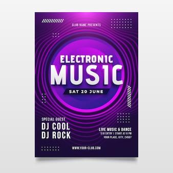 Cartel de música abstracta con formas redondas