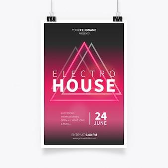 Cartel de la música electro house