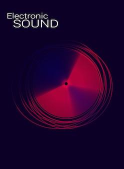 Cartel de música electrónica con el disco.