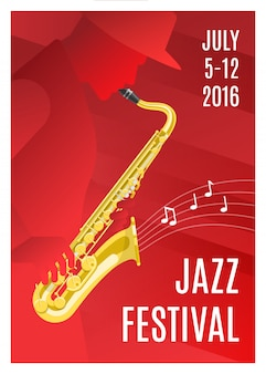 Cartel de música jazz
