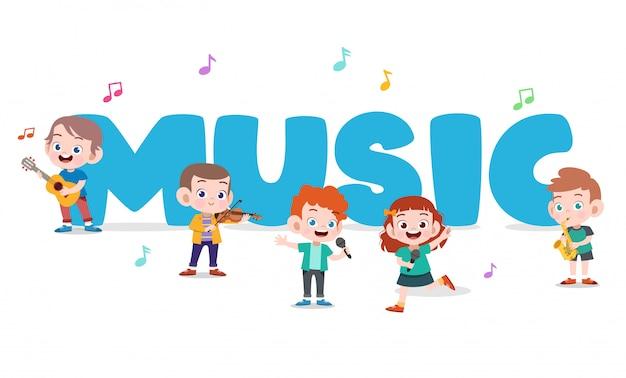 Cartel de música para niños