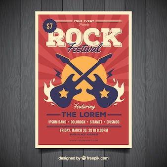 Cartel de música rock