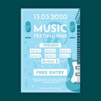 Cartel de la música