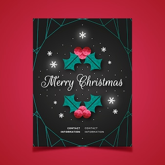 Cartel de navidad en estilo poligonal