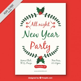 Cartel navideño para año nuevo