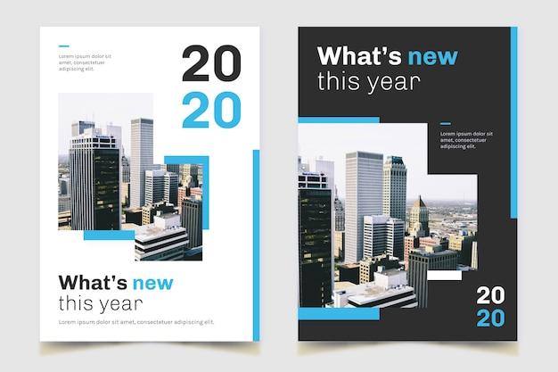 Cartel de negocio inmobiliario ciudad panorámica