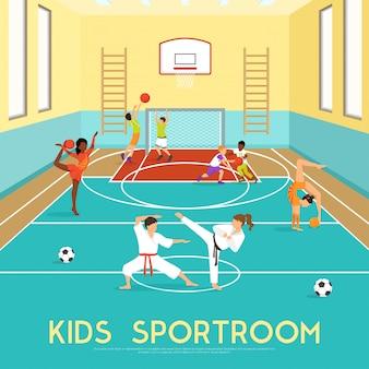 Cartel de niños sportroom