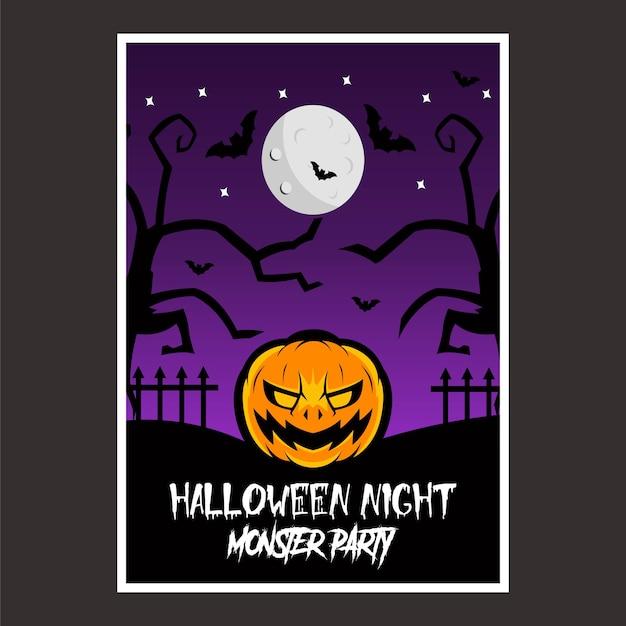 Cartel noche de halloween