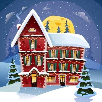 Cartel de la noche de navidad