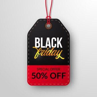 Cartel de oferta de descuento de venta de viernes negro