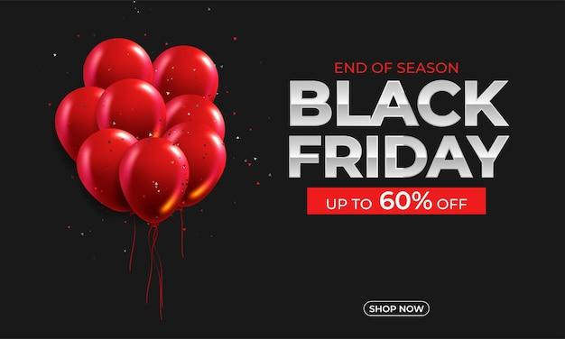 Cartel de oferta promocional de descuento de venta de viernes negro.