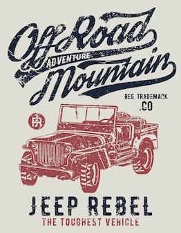 Cartel de off road jeep