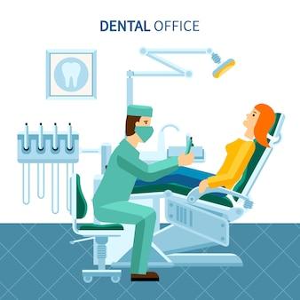 Cartel de la oficina dental