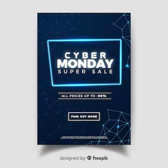 Cartel online de cyber monday