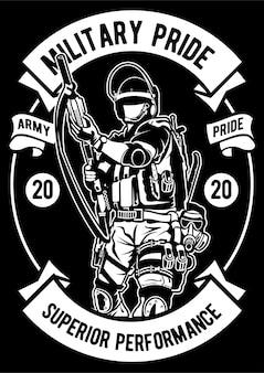 Cartel del orgullo militar