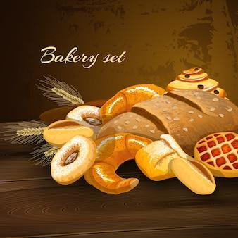 Cartel de pan de panadería