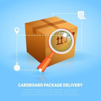 Cartel de paquete logístico