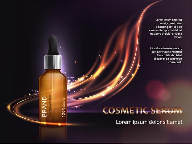 Cartel para la promoción de cosméticos anti-envejecimiento producto premium