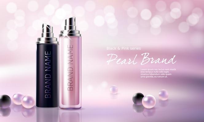 Cartel para la promoción de productos cosméticos premium hidratantes y nutritivos.