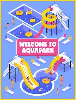 Cartel del parque acuático