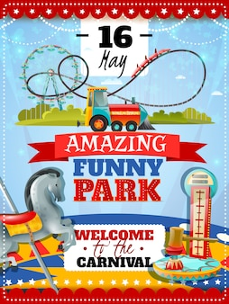 Cartel del parque de atracciones