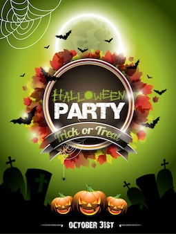 Cartel del partido del zombi