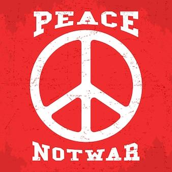 Cartel de paz vintage