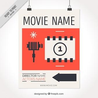 Cartel de película en diseño retro