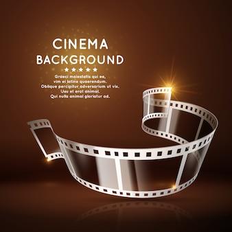 Cartel de la película con rollo de película de 35 mm.