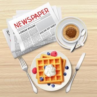 Cartel de periódico matutino