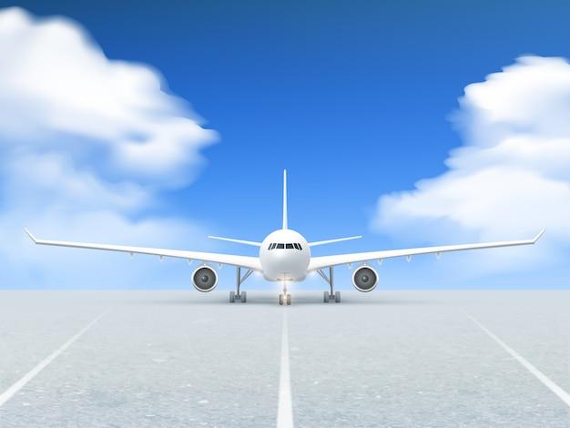 Cartel de la pista del avión