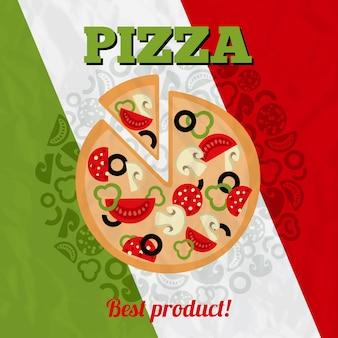 Cartel de pizza de italia