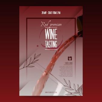 Cartel de plantilla de cata de vinos