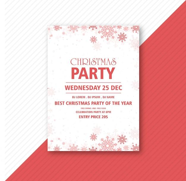 Cartel para la plantilla de fiesta de celebración de navidad