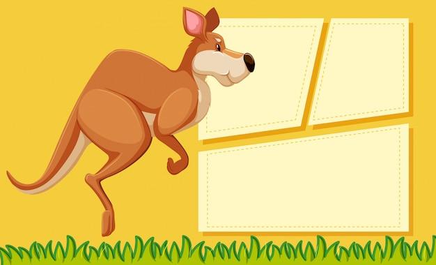 Cartel de plantilla de marco animal con copyspace en blanco