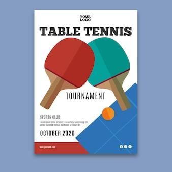 Cartel de plantilla de tenis de mesa