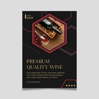 Cartel de plantilla de tienda de vinos