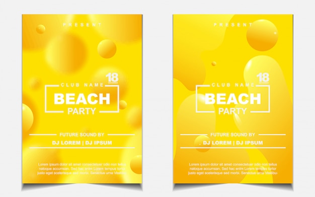 Cartel de portada de fiesta de playa